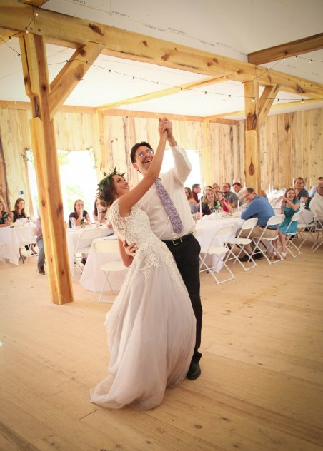 Father of the bride enjoys this dance wit his daughter