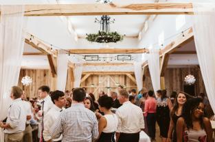 Summer reception inside. Plenty of room to meet and greet.