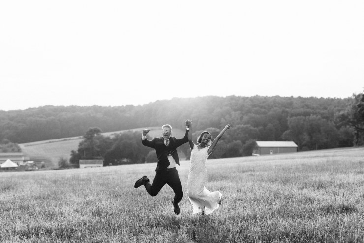 Jess and Josh jumping for joy! (Steven Shultz Photography)